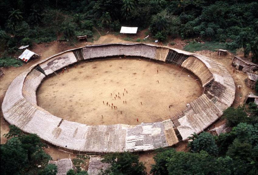 The Shabonos: Circular Communal Dwellings of the Yanomami Tribes in Venezuela