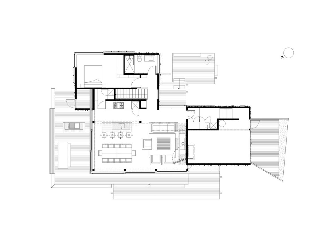 Floor Plan - Under Pohutukawa / Herbst Architects
