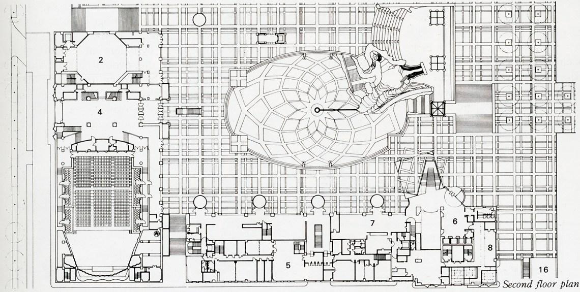 Floor Plan of the MOCA by Arata Isozaki