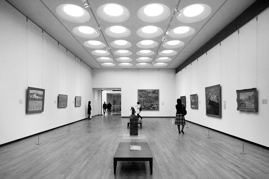 NMWA Interior Gallery by Le Corbusier