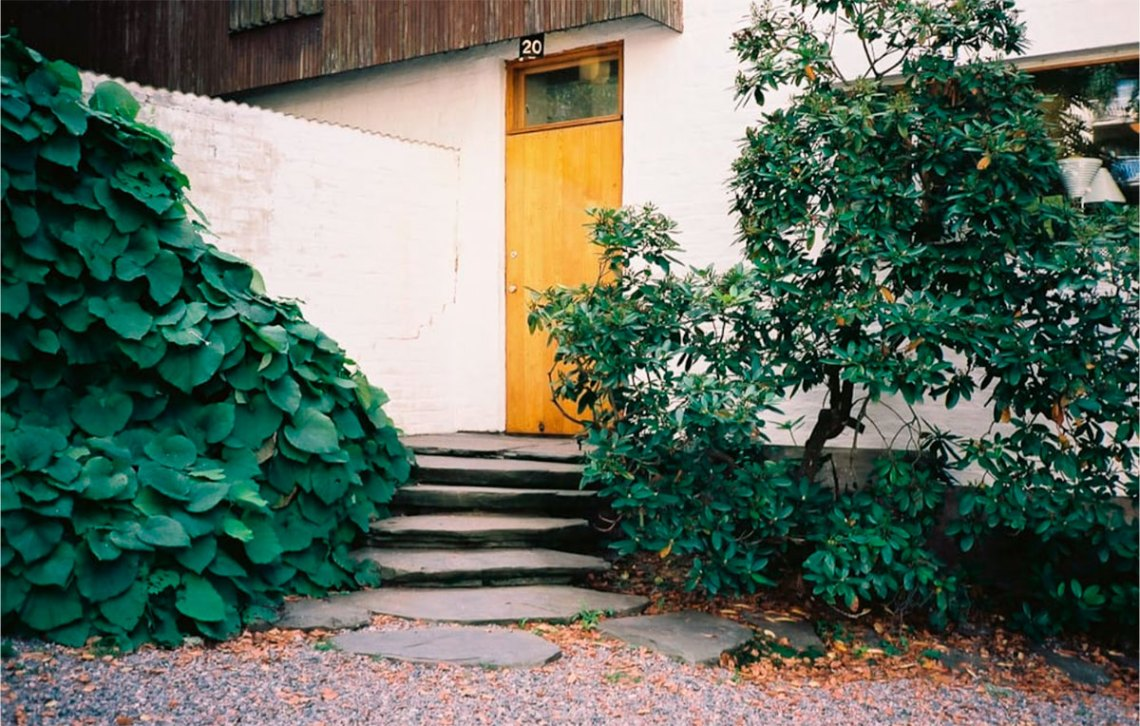 Door entrance of the Aalto home