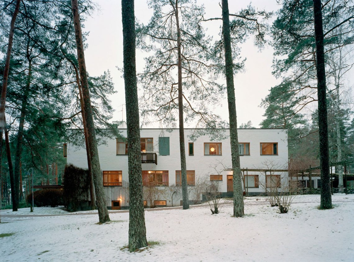 Exterior view of Villa Mairea by Alvar Aalto