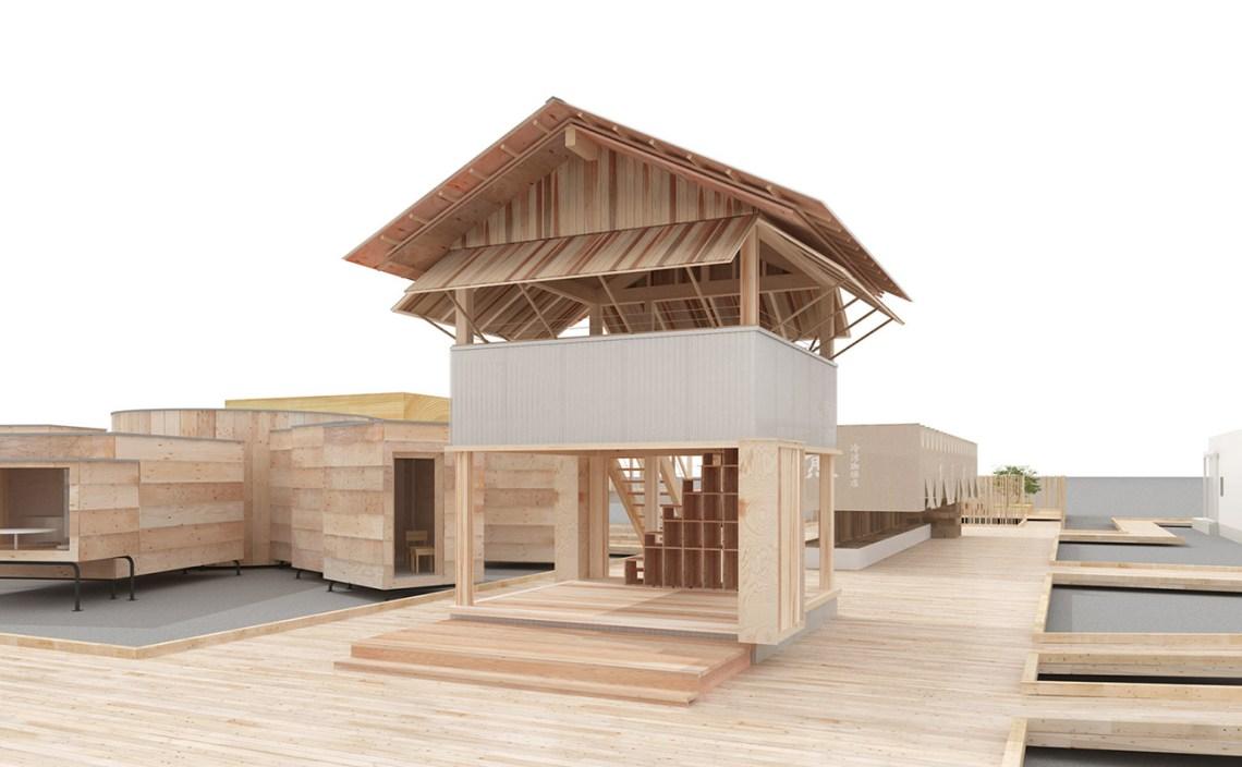 Tanada Terrace Office / MUJI + Atelier Bow-Wow