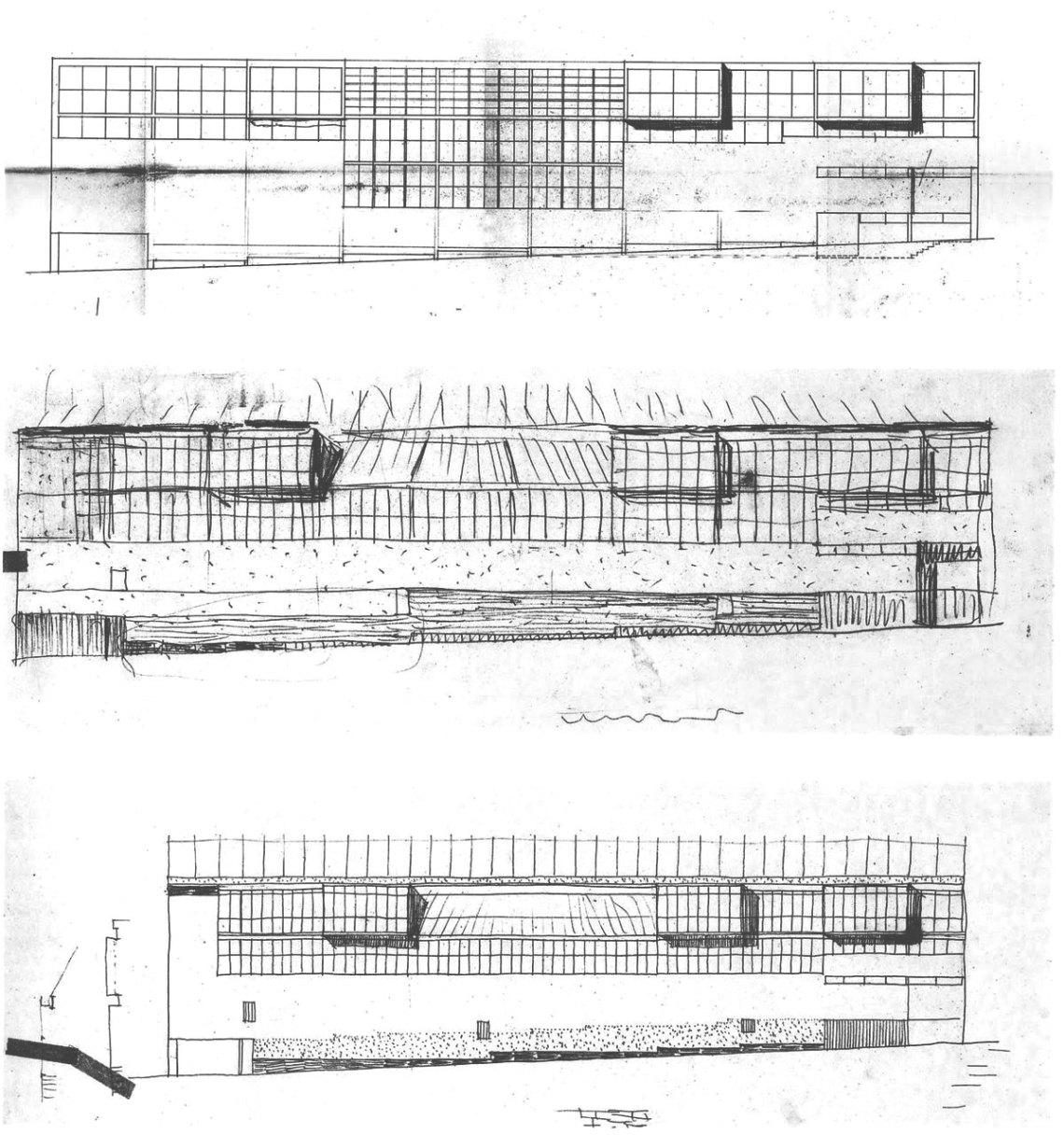 Maravillas Gymnasium Elevation Alejandro de la Sota
