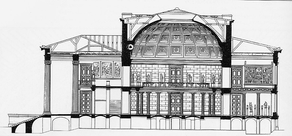 Section of the Altes Museum / Karl Friedrich Schinkel