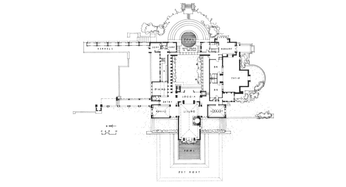 Frank Lloyd Wright Hollyhock House Floor Plan