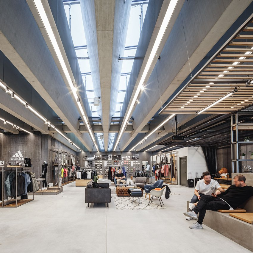 Interior view of the adidas headquarters by COBE Architects