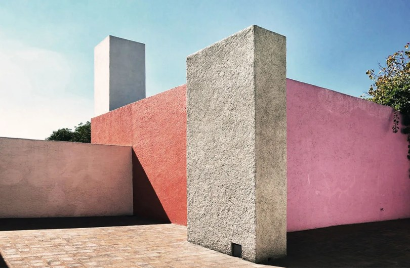 Luis Barragan House Patio Color Facade - Exterior Walls