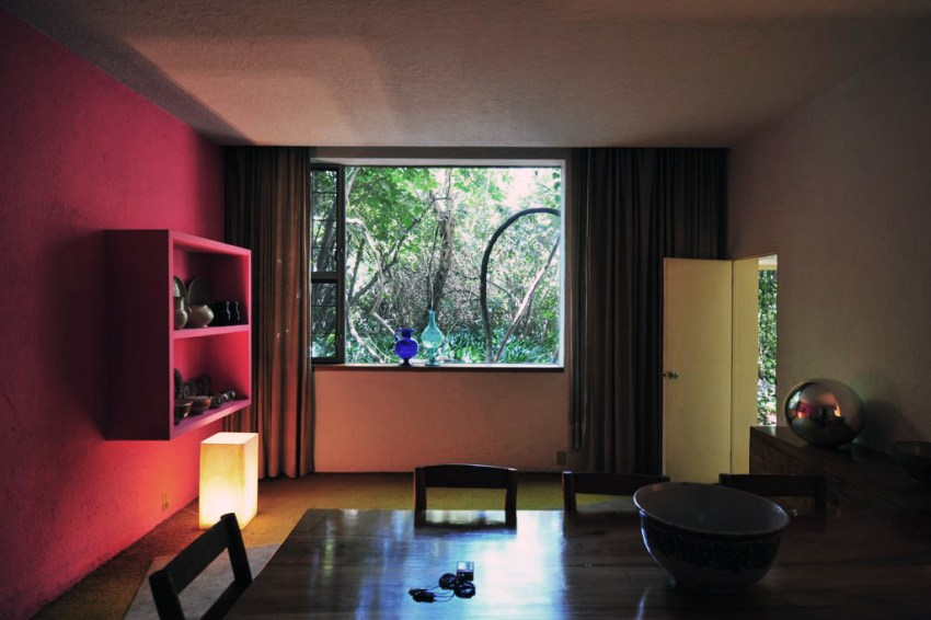 Colorful walls at Luis Barragan House