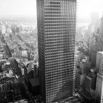 Exterior photograph Seagram Building in New york by Mies Van Der Rohe
