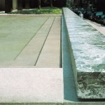 Water feature photograph Seagram Building in New york by Mies Van Der Rohe