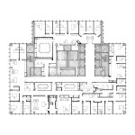 Floor Plan Seagram Building in New york by Mies Van Der Rohe