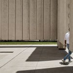 Exit of the John Fitzgerald Kennedy Memorial Plaza by Philip Johnson