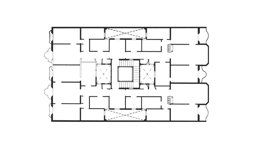 Floor Plan of Calvet House in Barcelona by Antonio Gaudi