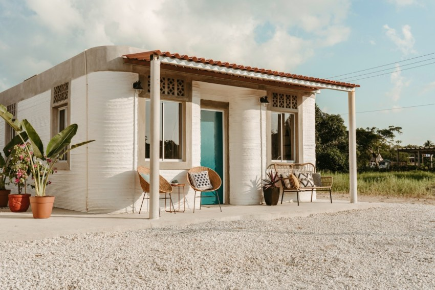 3D Printed House in Mexico Exterior