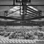Interior of Olivetti Underwood Factory in Pennsylvania by Louis Kahn