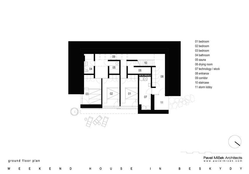 Basement Weekend House in Beskydy / Pavel Míček Architects