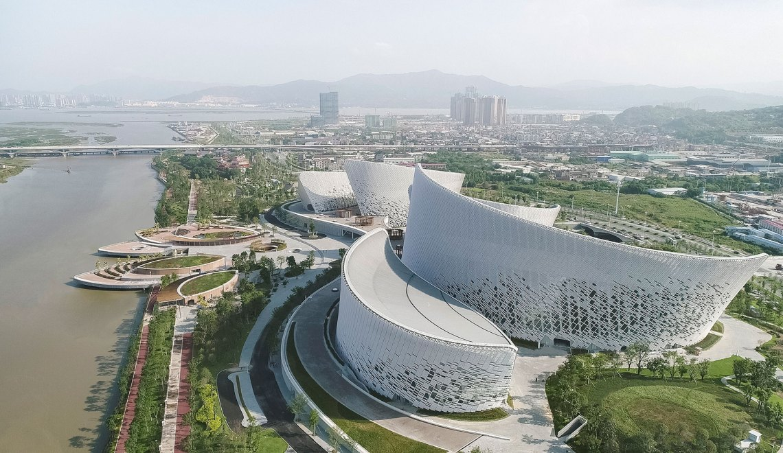 Aerial View - Fuzhou Strait Culture And Art Centre / PES-Architects