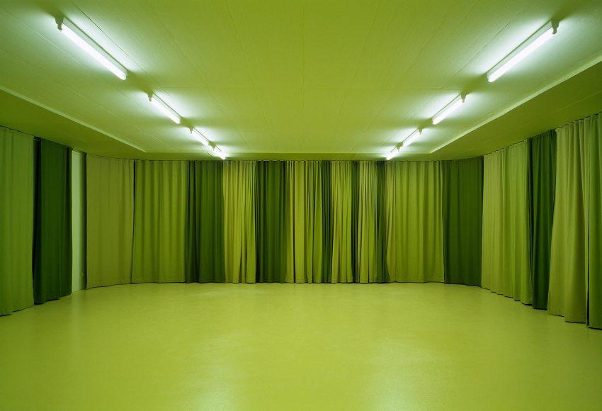 Green interior room - cultural centre