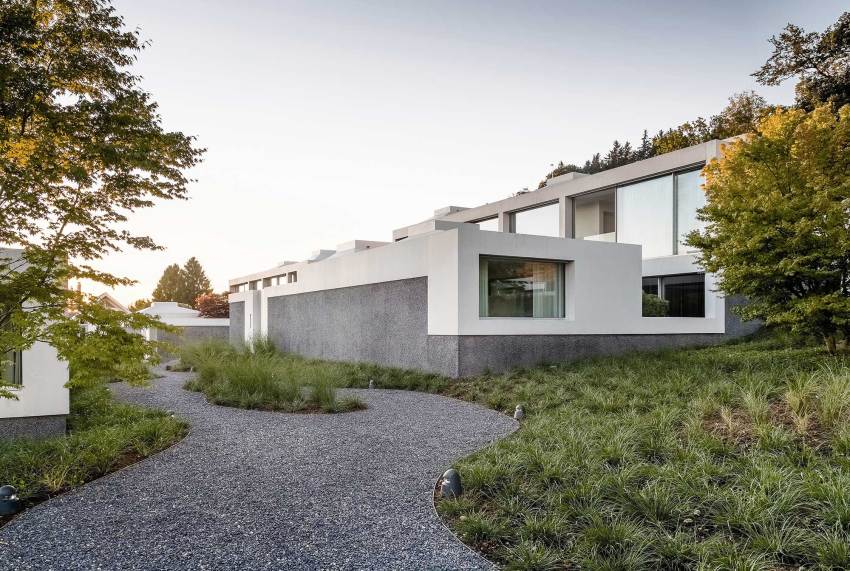 Exterior - Courtyard Houses in Zumikon / Think Architecture