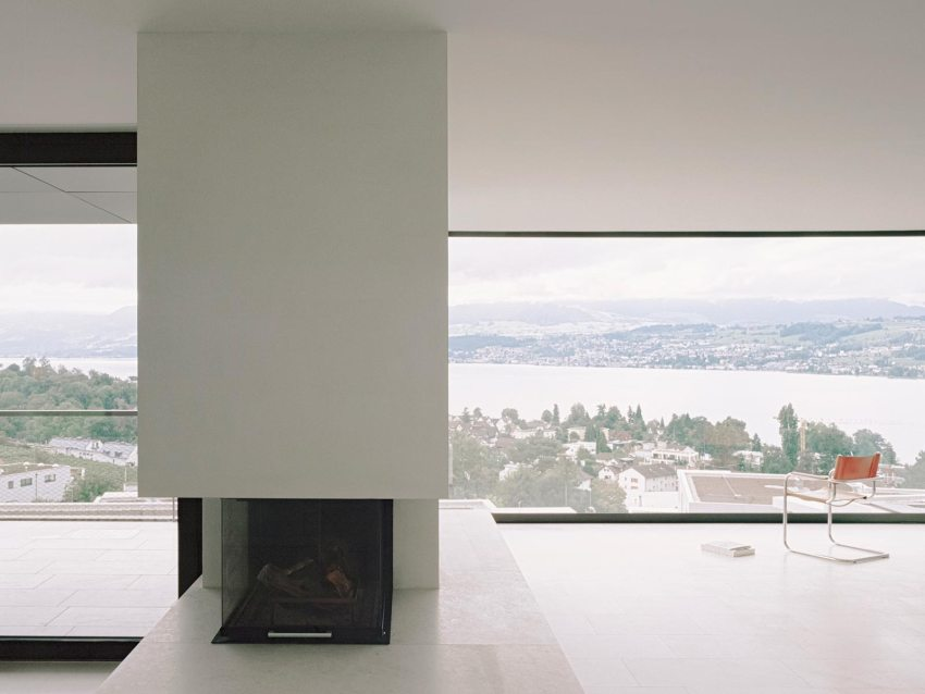 Fire place - Five Patio Houses in Meilen / Think Architecture