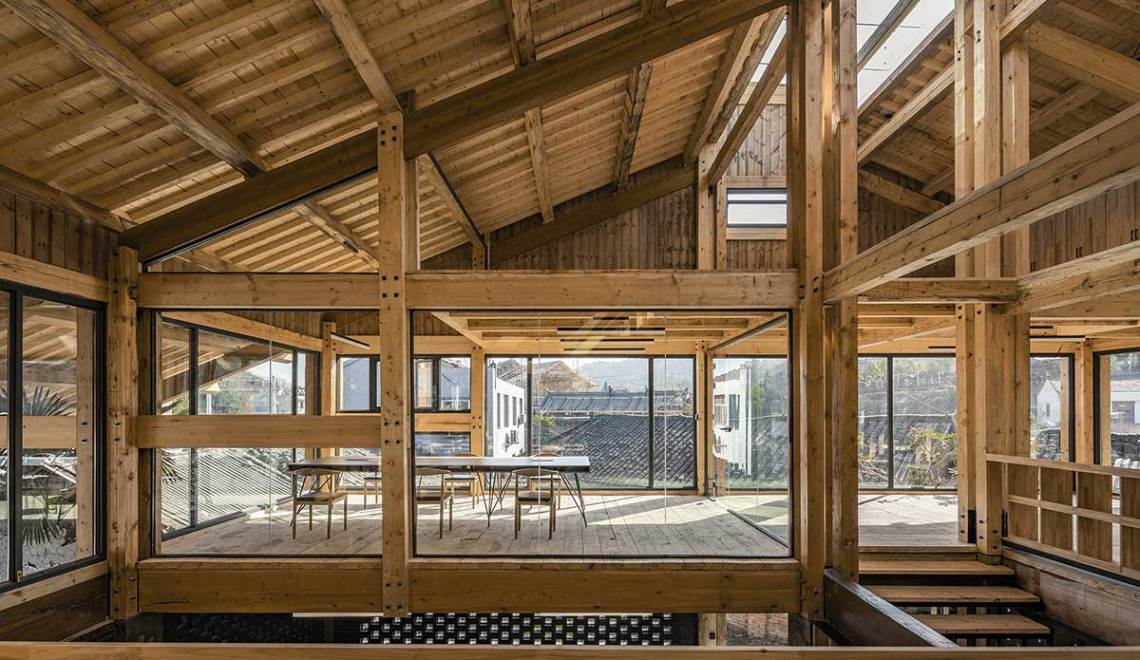 Small conference room - Party and Public Service Center of Yuanheguan Village / LUO Studio