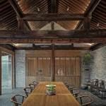 Middle courtyard dining room - Qishe Courtyard in Beijing / ARCHSTUDIO