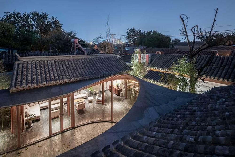 Overall aerial view - Qishe Courtyard in Beijing / ARCHSTUDIO