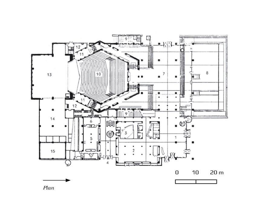 Floor Plan | Tokyo Metropolitan Festival Hall (Tokyo Bunka Kaika / Kunio Maekawa