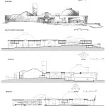 Elevations and Sections - Vidhan Bhavan State Assembly in Bhopal / Charles Correa