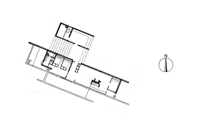 True North Floor Plan - Utzon's House in Hellebæk / Jørn Utzon