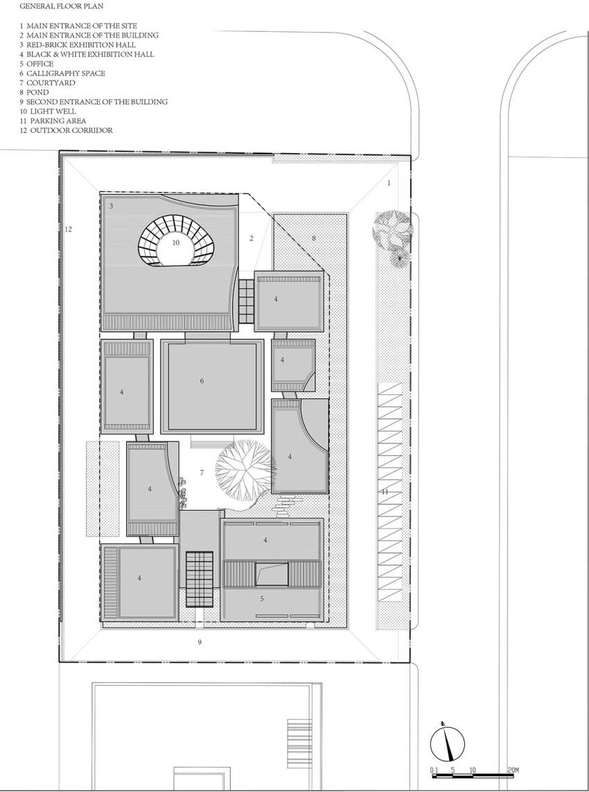 General floor plan - Shuyang Art Gallery