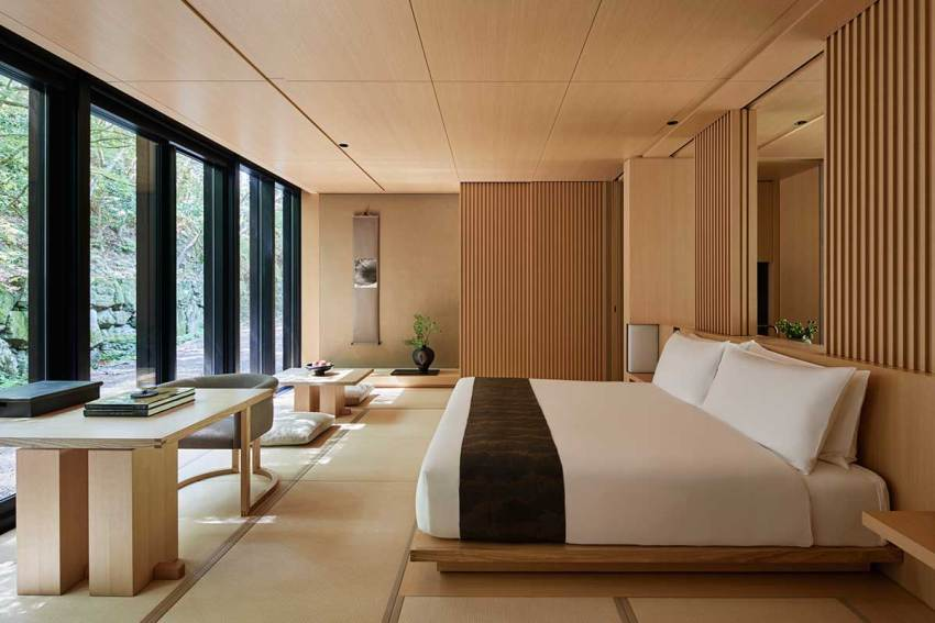Pavilion-bedroom - Aman Kyoto Resort / Kerry Hill Architects