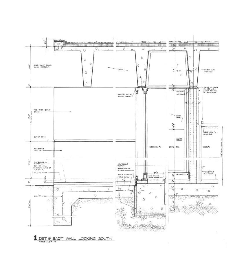 Detail Plan of the Bunshaft Residence