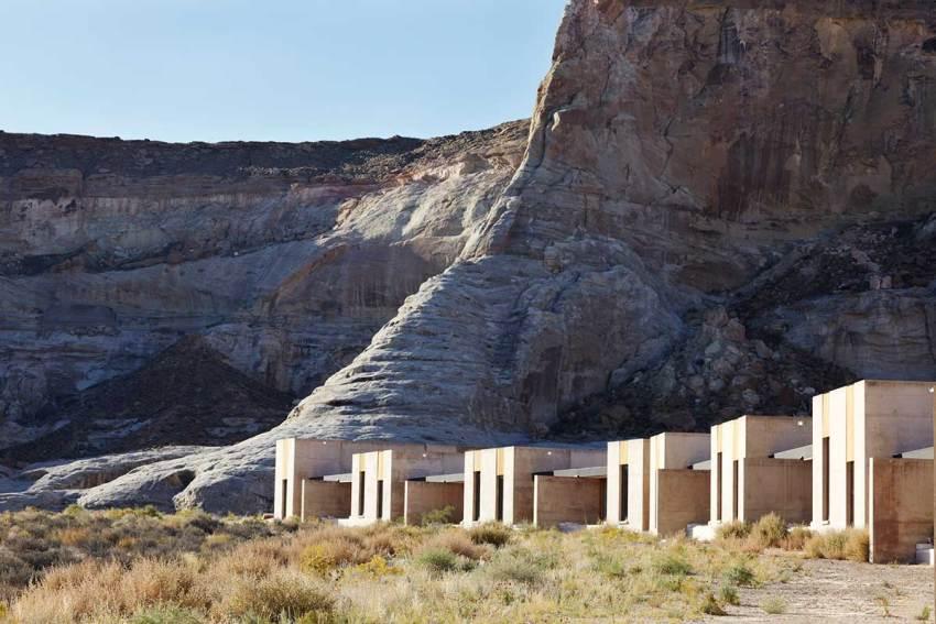 Desert view of the resort