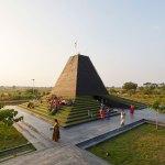 Aerial View of Hindu temple