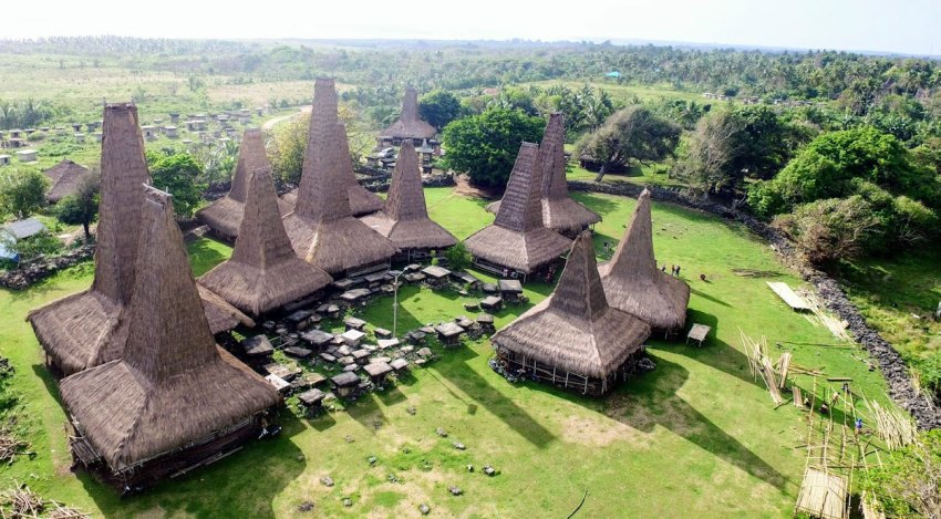 Aerial Photograph of a House in Sumba island