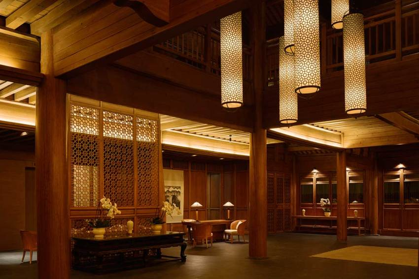 Lobby of the Amandayan Resort in China / Ed Tuttle