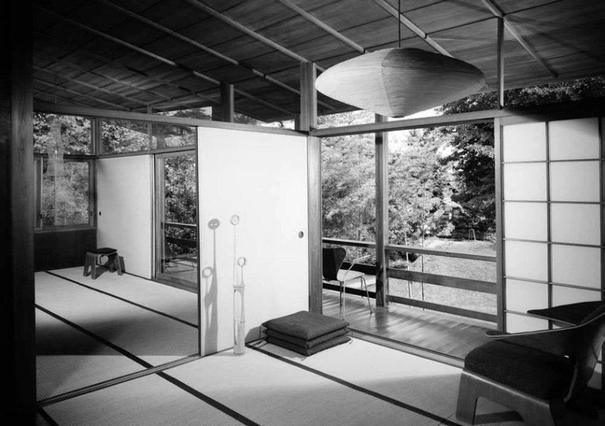 Interior Japanese living Room - Kenzo Tange's House / Villa Seijo