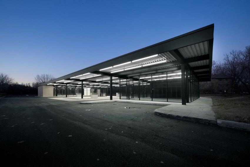 Exterior View - Mies van der Rohe Gas Station Conversion on Nuns Island / FABG Architects
