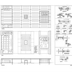 Floor Plans and Sections - Mies van der Rohe Gas Station Conversion on Nuns Island / FABG Architects