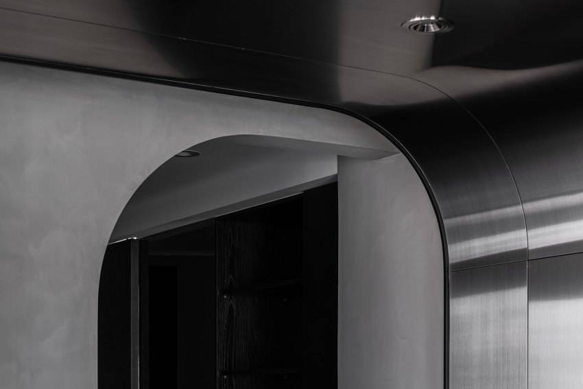 Curved cove at ceiling details