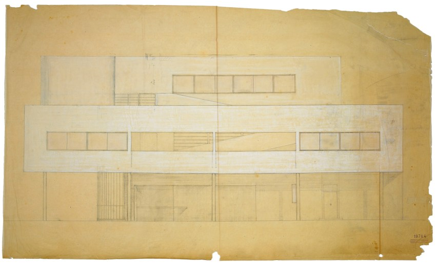 Elevation Villa Savoye / Le Corbusier