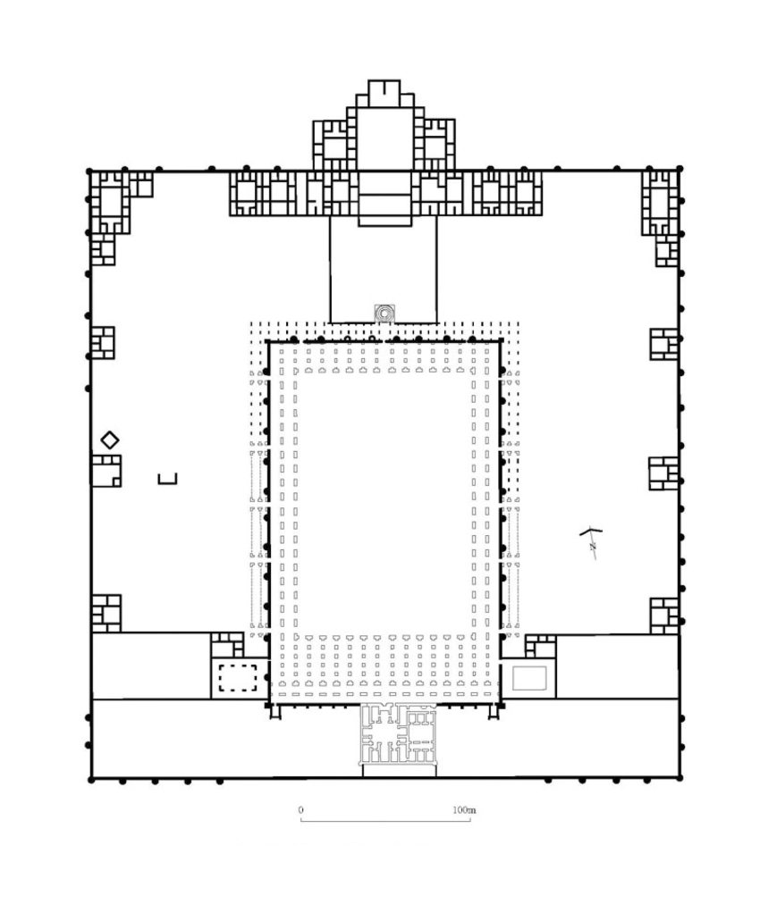 Floor Plan of the Mosque of Abu Dulaf and its outer enclosure.