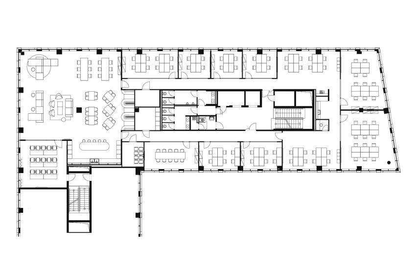 Floor Plan | Base4Work Coworking Space / Studio Perspektiv