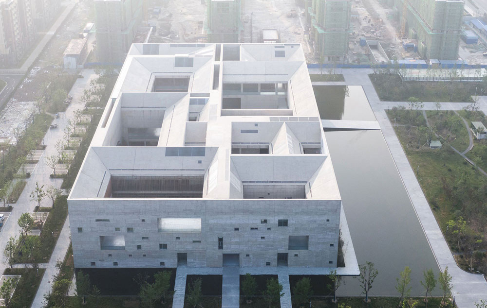 Aerial View - Shou County Culture & Art Center / Studio Zhu-Pei