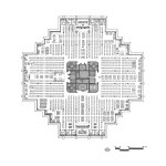 Floor Plan of The Geisel Library / William Pereira & Associates
