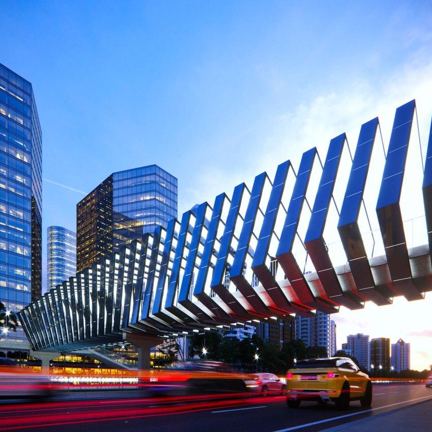 Solar Skywalks Energetic Activation of Footbridges by Peter Kuczia