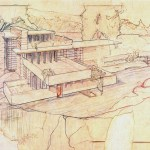 Drawing by Frank Lloyd Wright