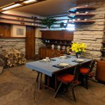 Dining Room - Fallingwater House by Frank Lloyd Wright / Edgar J. Kaufmann House